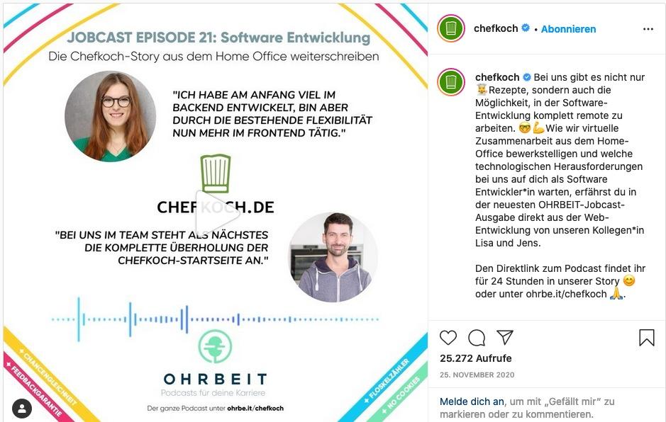 Jobcast erfolgreich nutzen auf Instagram